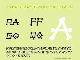 xBONES Semi-Italic