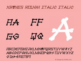 xBONES Rough Italic