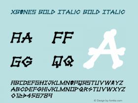 xBONES Bold Italic