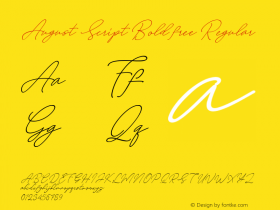 August Script Bold free