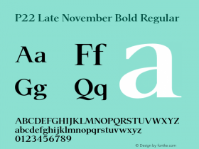 P22 Late November Bold