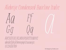 Alebrije Condensed Hairline
