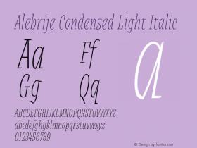 Alebrije Condensed Light