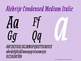 Alebrije Condensed Medium