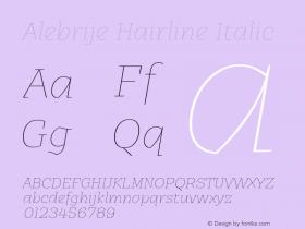 Alebrije Hairline