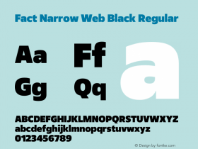 Fact Narrow Web Black
