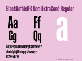 BlockGothicRR DemiExtraCond