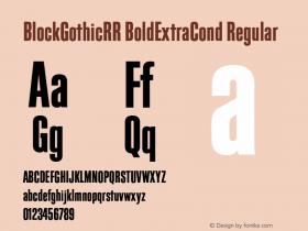 BlockGothicRR BoldExtraCond