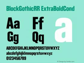 BlockGothicRR ExtraBoldCond
