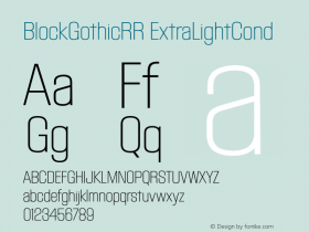 BlockGothicRR ExtraLightCond