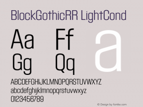 BlockGothicRR LightCond
