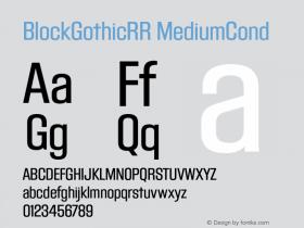 BlockGothicRR MediumCond