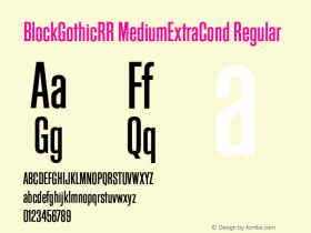 BlockGothicRR MediumExtraCond