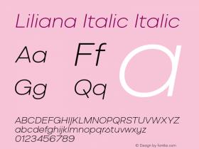 Liliana Italic