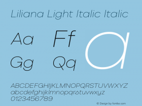 Liliana Light Italic