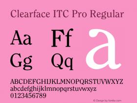 Clearface ITC Pro
