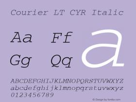 Courier LT CYR