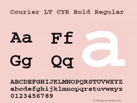 Courier LT CYR Bold