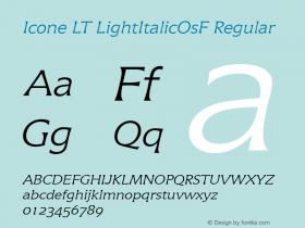 Icone LT LightItalicOsF