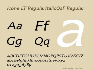 Icone LT RegularItalicOsF