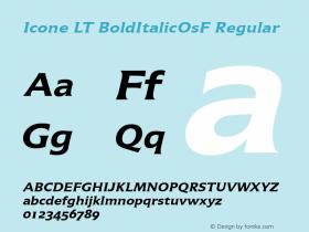 Icone LT BoldItalicOsF
