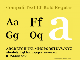 CompatilText LT Bold