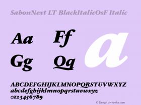 SabonNext LT BlackItalicOsF