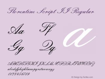 Florentine Script II