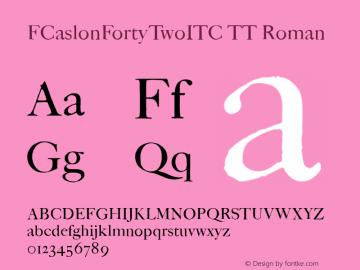 FCaslonFortyTwoITC TT