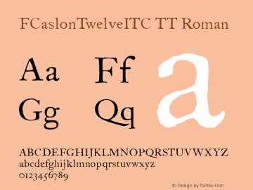 FCaslonTwelveITC TT