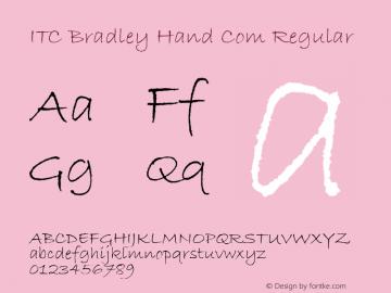 ITC Bradley Hand Com