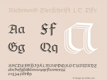 Richmond Zierschrift LT