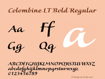 Colombine LT Bold