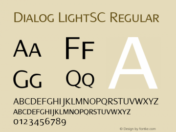 Dialog LightSC
