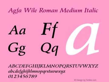 Agfa Wile Roman Medium