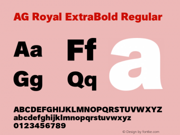 AG Royal ExtraBold