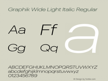 Graphik Wide Light Italic