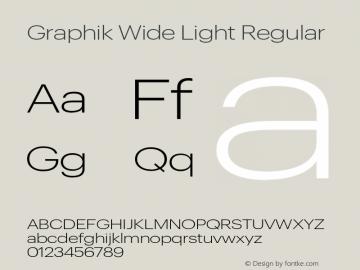 Graphik Wide Light