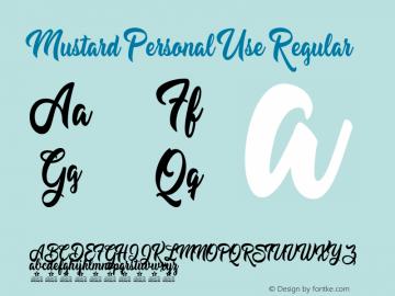 Mustard Personal Use