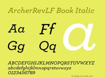 ArcherRevLF Book
