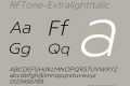 RFTone-ExtralightItalic