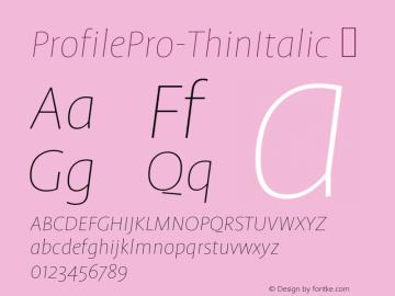 ProfilePro-ThinItalic