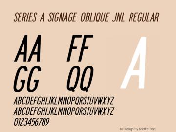 Series A Signage Oblique JNL