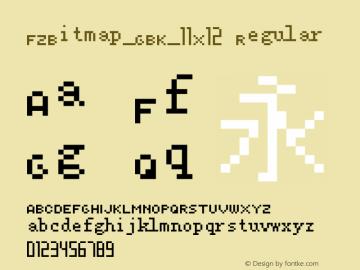FZBitmap_GBK_11X12