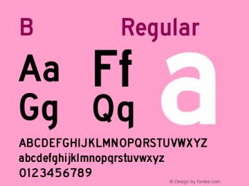 B型交通标志专用字体