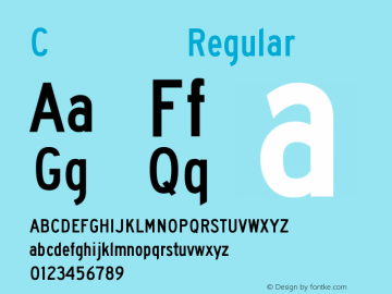 C型交通标志专用字体