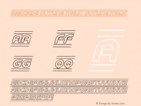 Barcade Outline Italic
