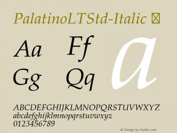 PalatinoLTStd-Italic