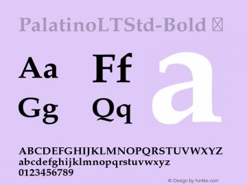 PalatinoLTStd-Bold