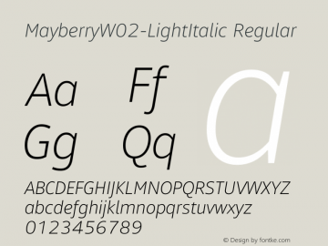 MayberryW02-LightItalic